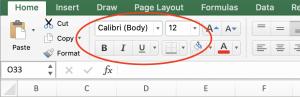 aanpassen lettertype in grafiek